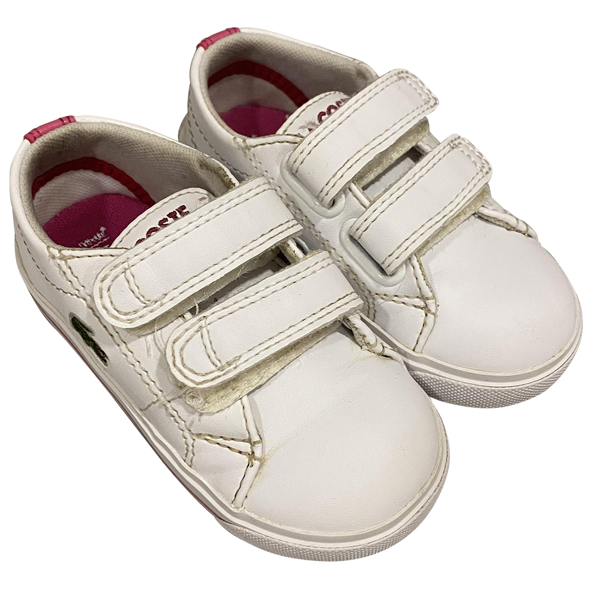 Lacoste \N Sneakers in  Weiss Leder