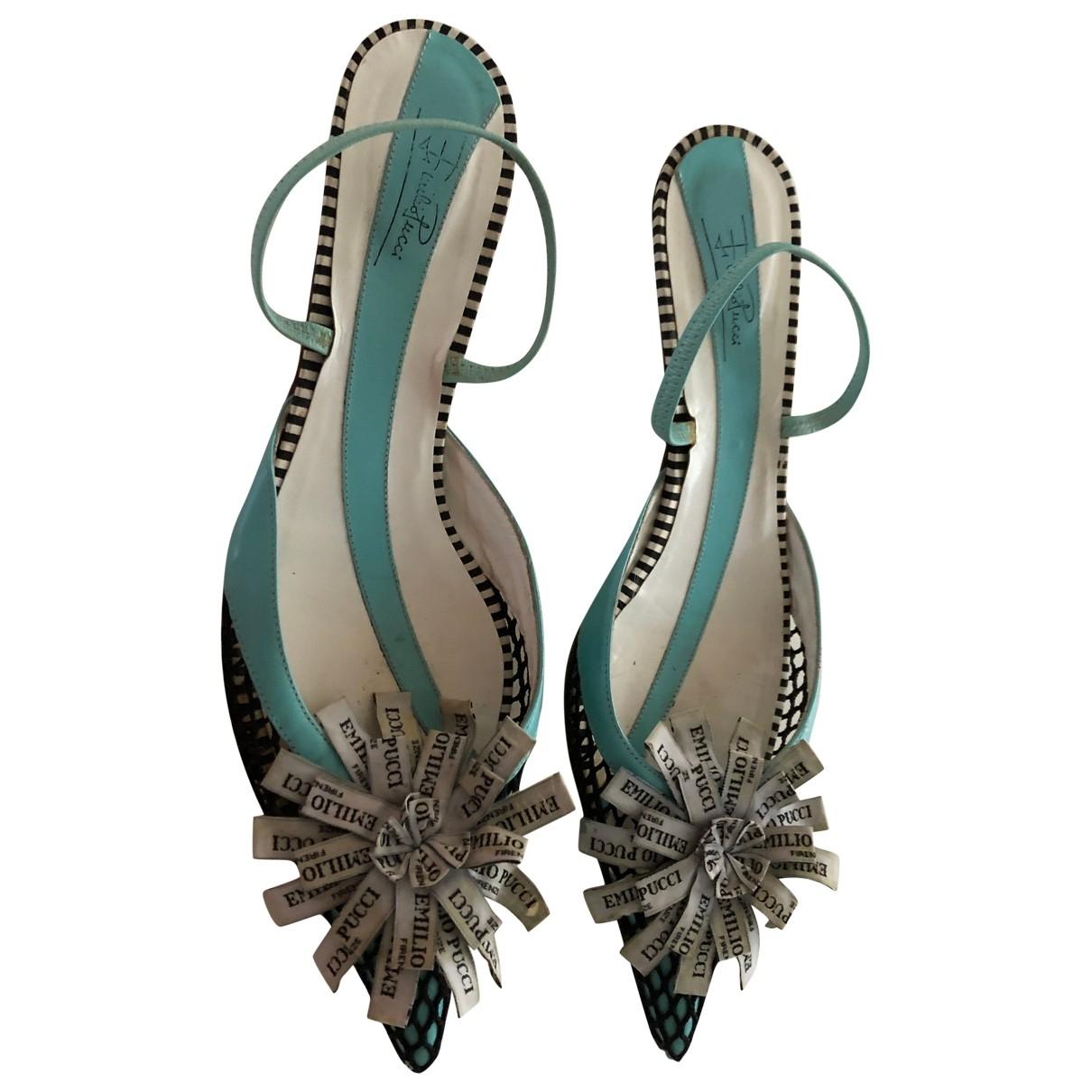 Emilio Pucci - Escarpins   pour femme en cuir - bleu
