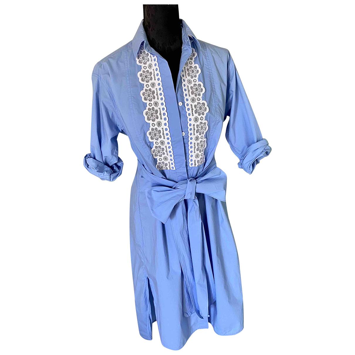 Sandro - Robe   pour femme en coton - bleu