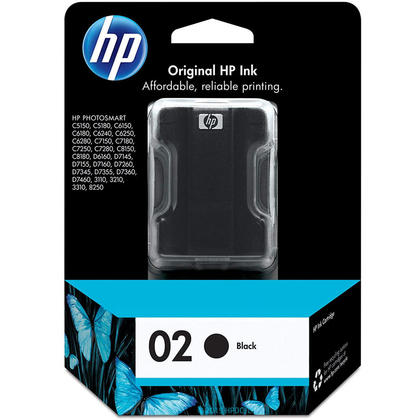 HP 02 C8721WC C8721WN Original Black Ink Cartridge