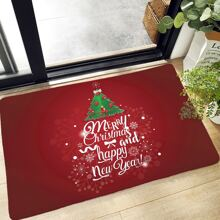 Christmas Slogan Graphic Floor Mat