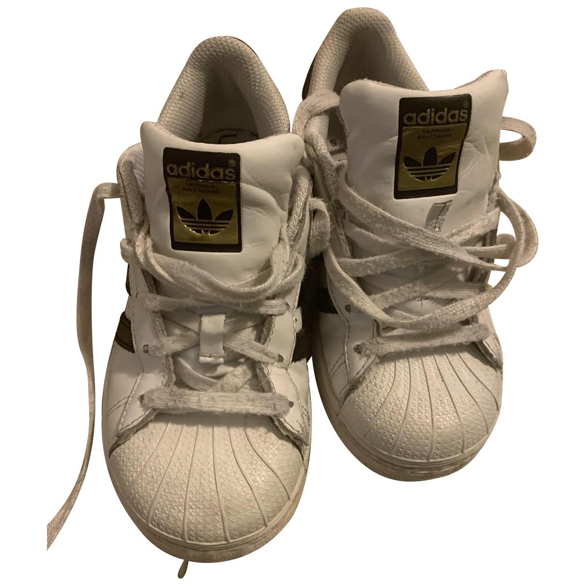 Adidas - Baskets Superstar pour enfant en cuir - blanc