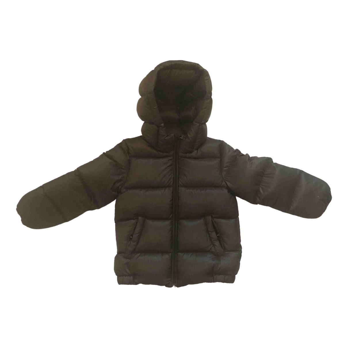 Moncler Hood Jacke, Maentel in  Braun Polyester