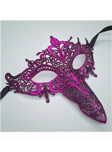 Cupid Beak Hollow Lace Halloween Masquerade Mask Blue