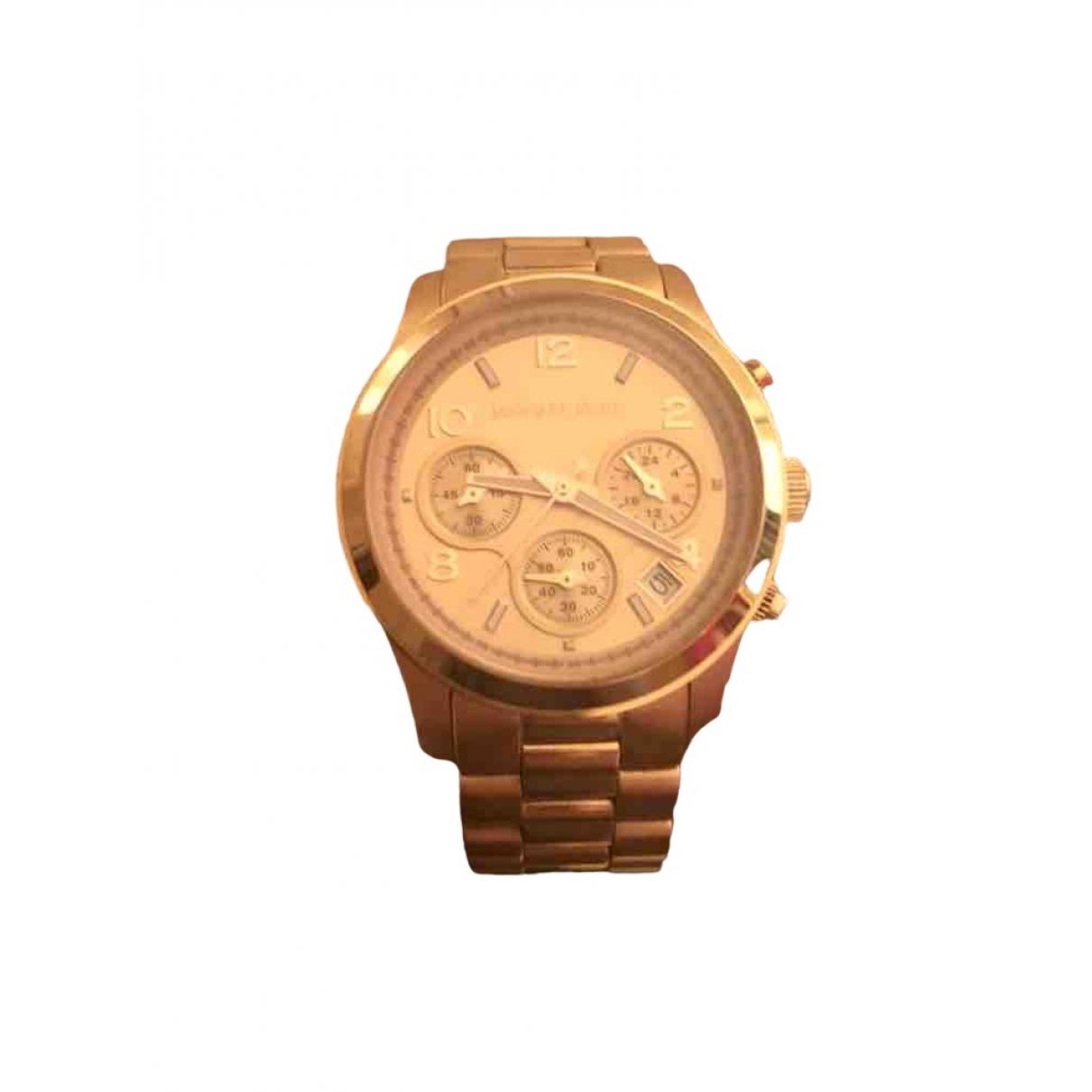 Michael Kors \N Pink Steel watch for Women \N