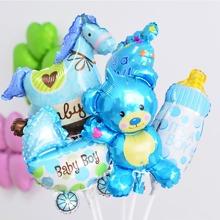 5 piezas globo decorativo de dibujos animados