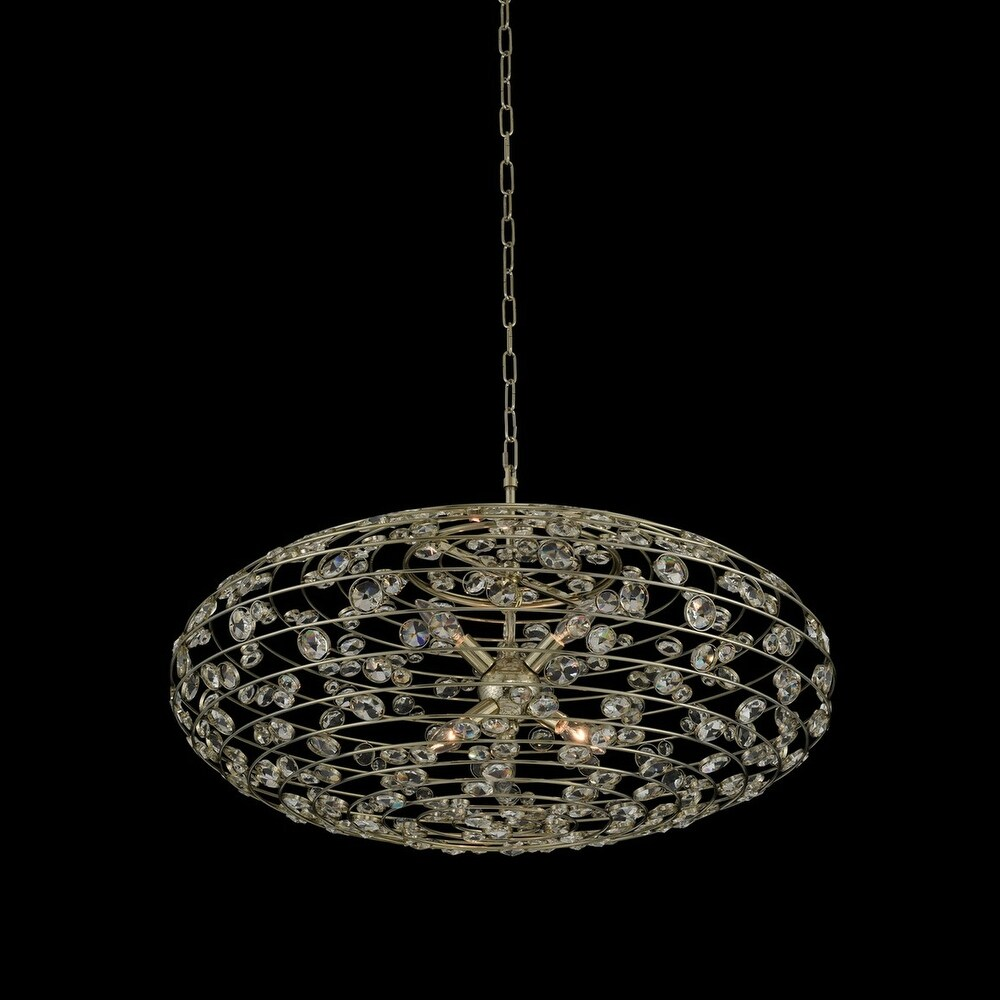 Allegri 032553041FR001 Six Light Pendant Gemini Champagne Gold - One Size (One Size - Clear)