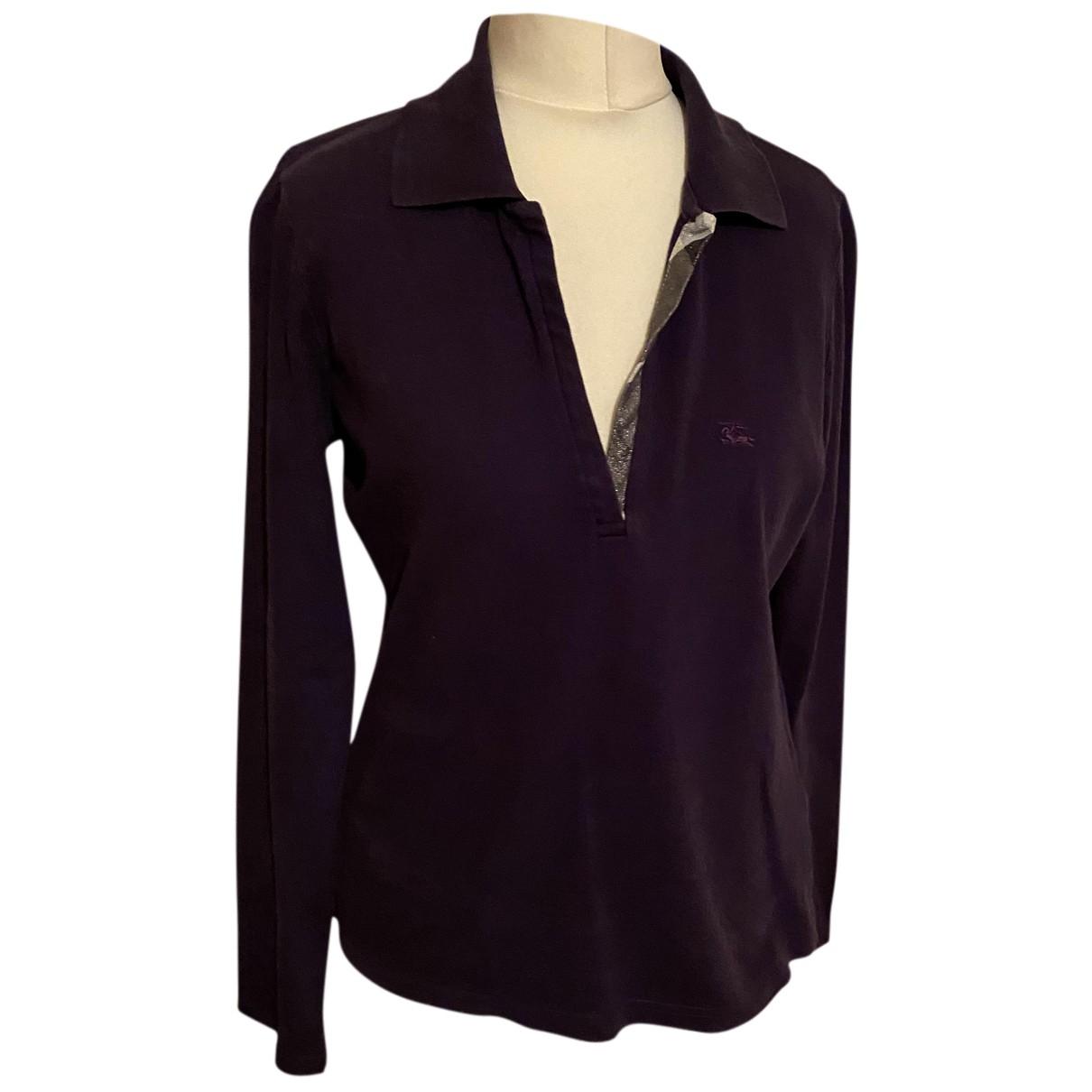 Burberry N Purple Cotton  top for Women M International