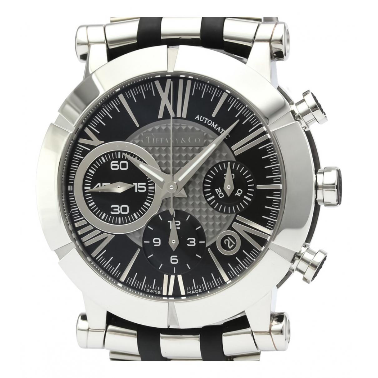 Tiffany & Co \N Uhr in  Schwarz Stahl