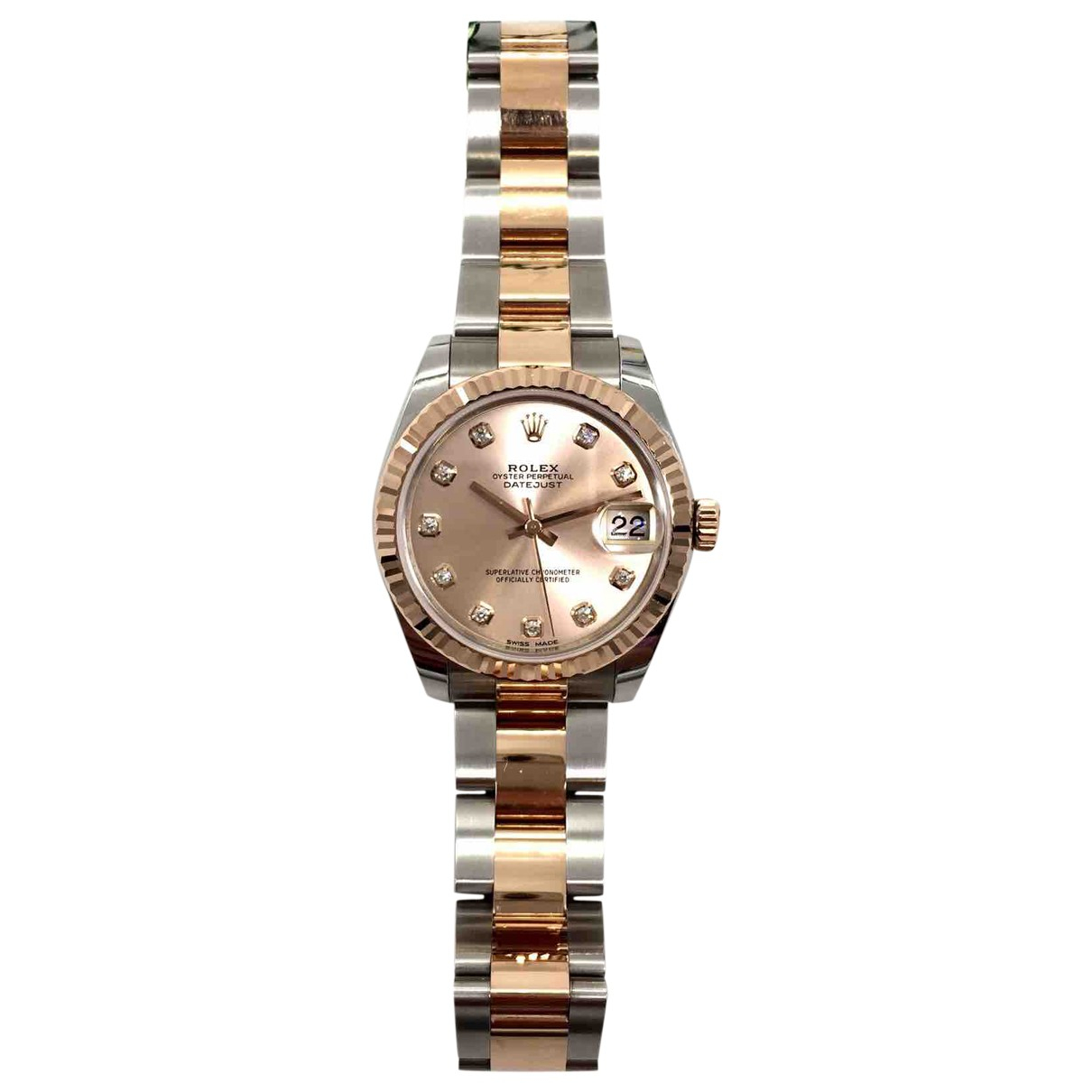 Rolex Datejust 31mm gold and steel watch for Women N