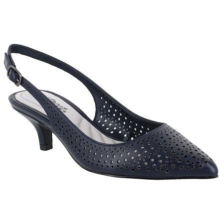 Easy Street Womens Enchant Pumps Kitten Heel, 6 1/2 Medium, Blue