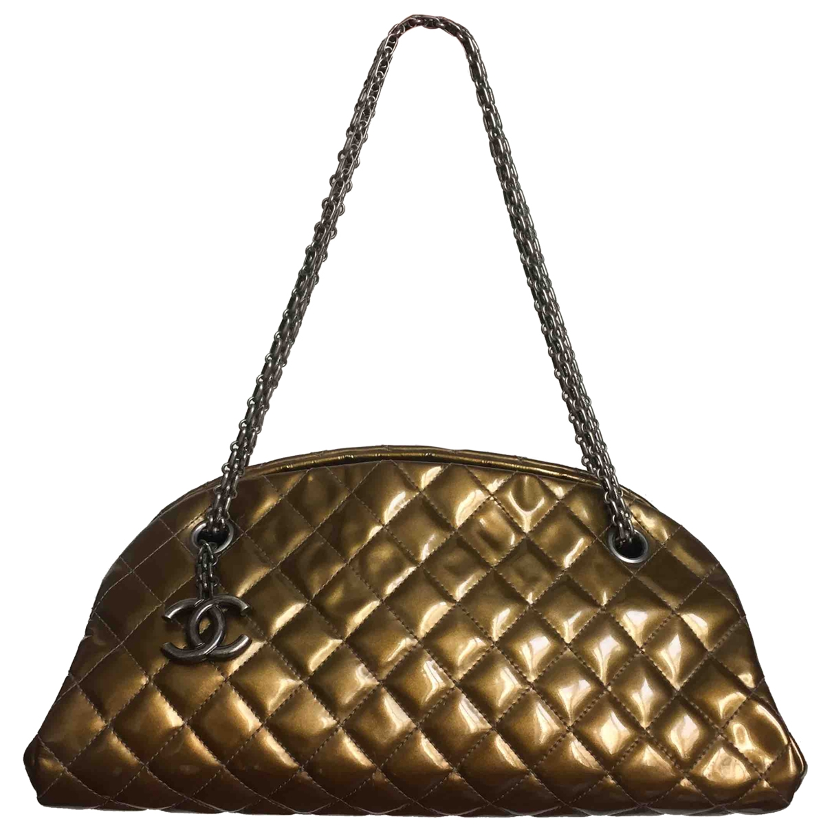 Chanel Mademoiselle Gold Patent leather handbag for Women \N