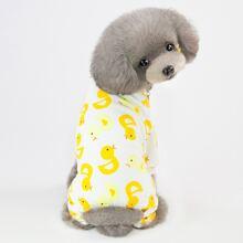 1pc Duck Pattern Dog Pajamas