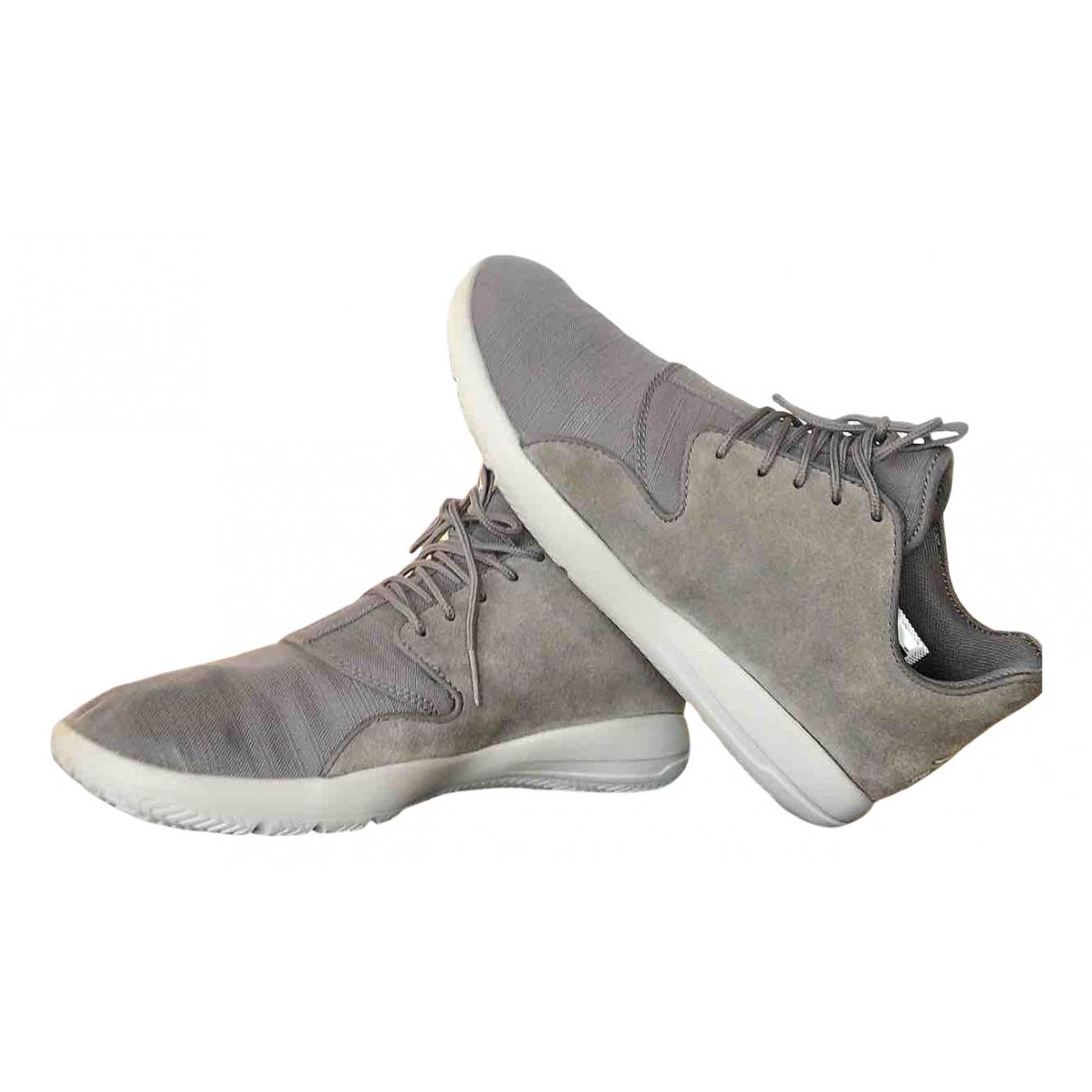 Jordan \N Sneakers in  Grau Leinen