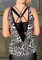 Leopard Open Back Tank without Necklace