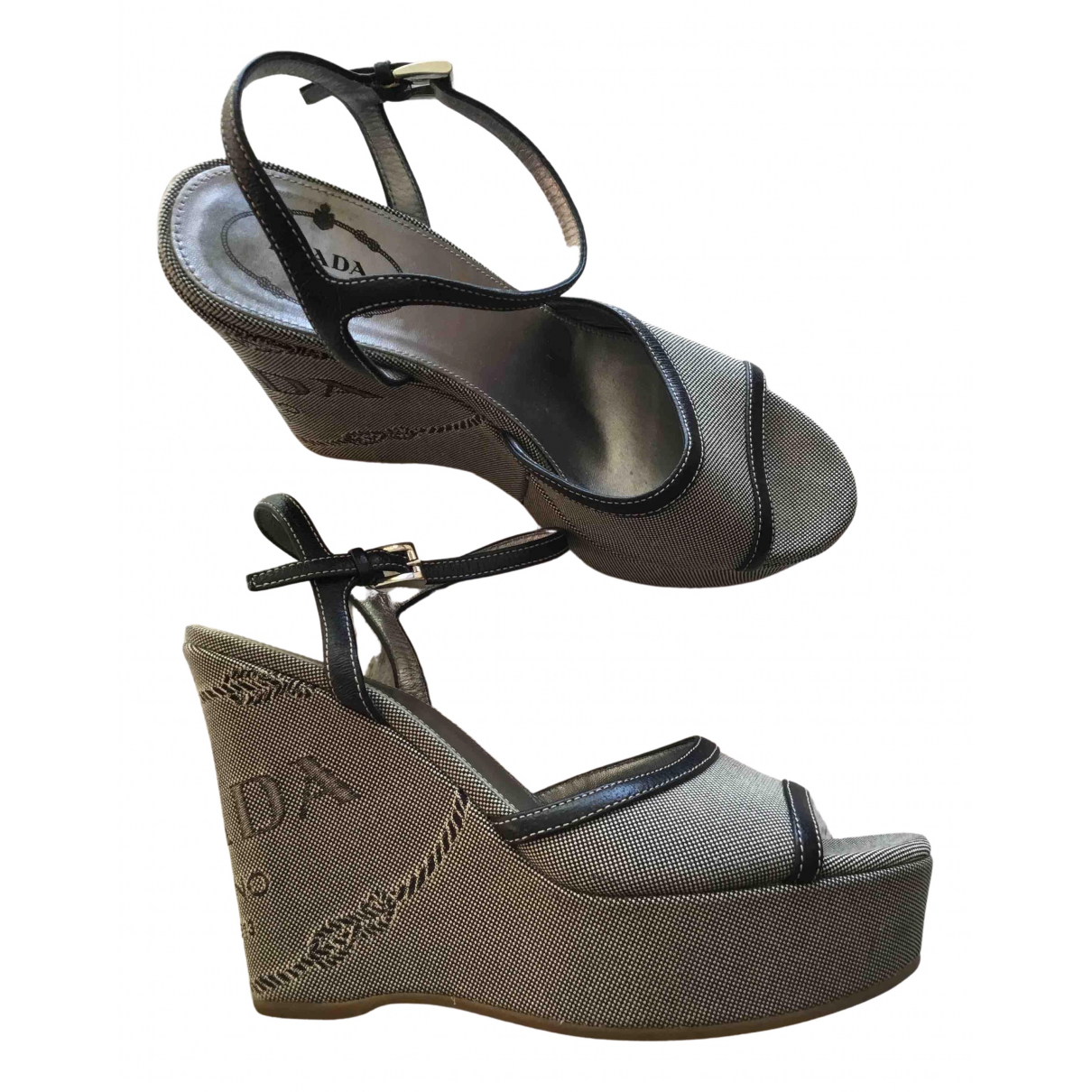 Prada N Cloth Heels for Women 37 EU