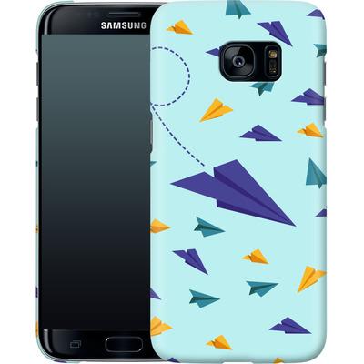 Samsung Galaxy S7 Edge Smartphone Huelle - Paper Planes von caseable Designs