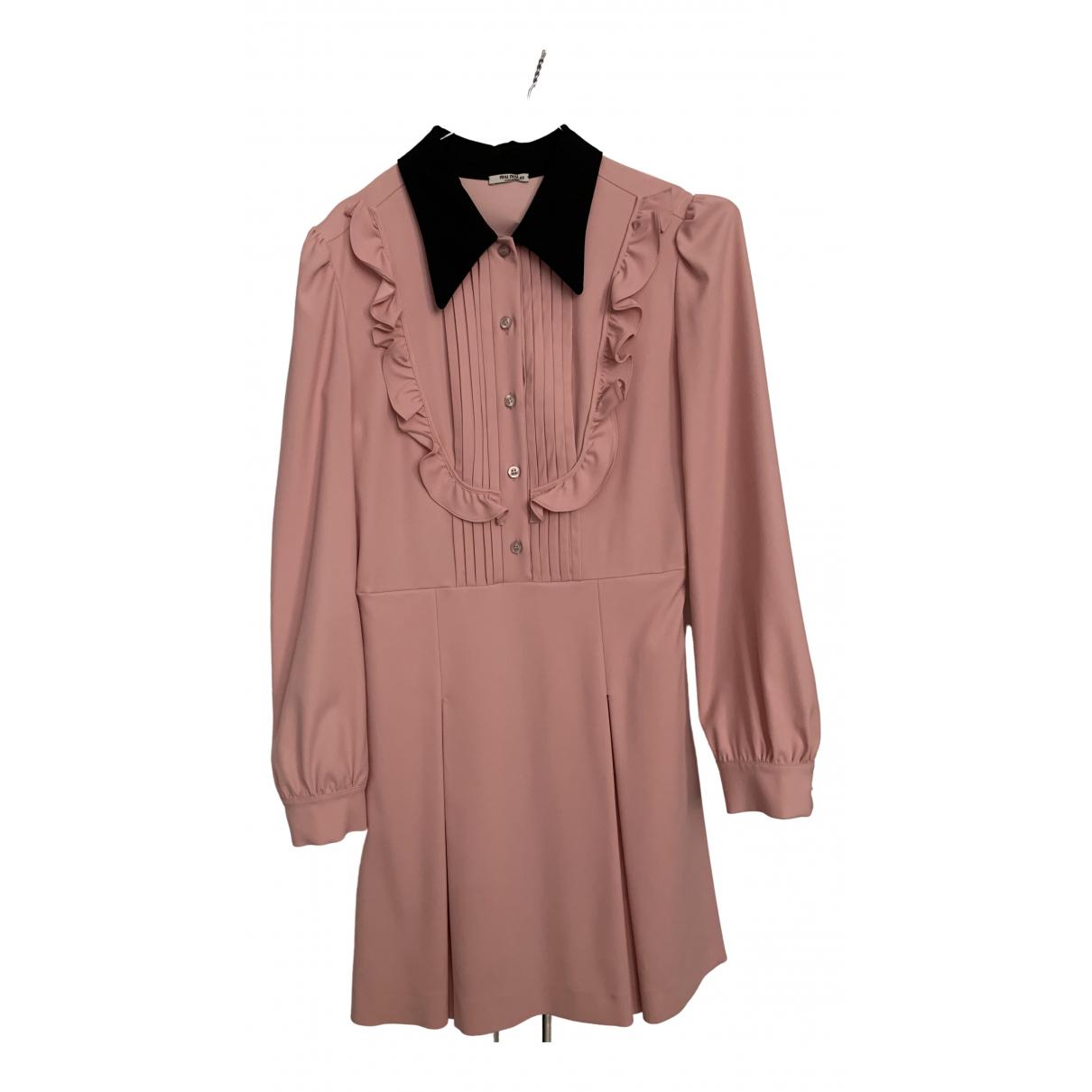 Miu Miu \N Kleid in  Rosa Seide