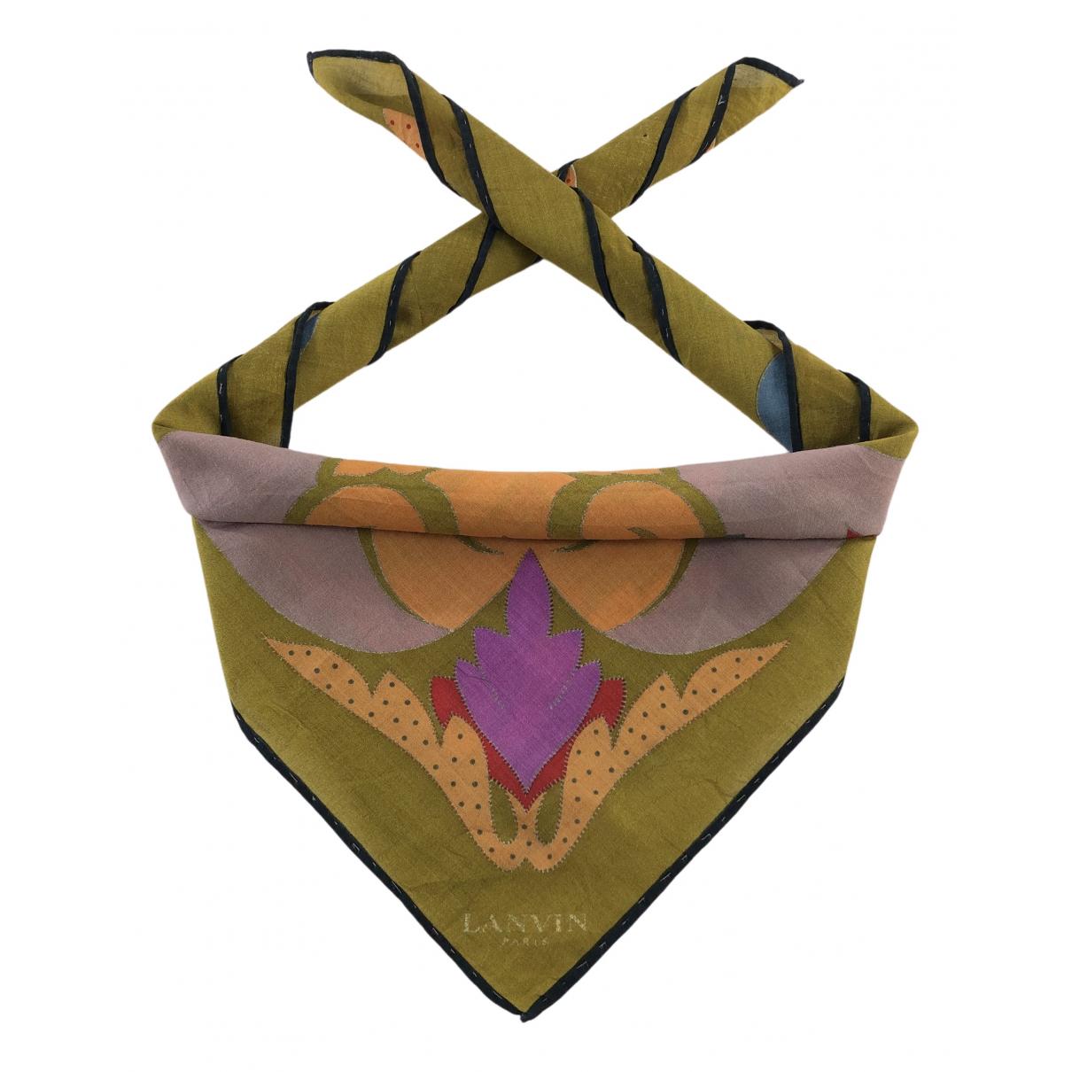 Lanvin N Multicolour Cotton Silk handkerchief for Women N