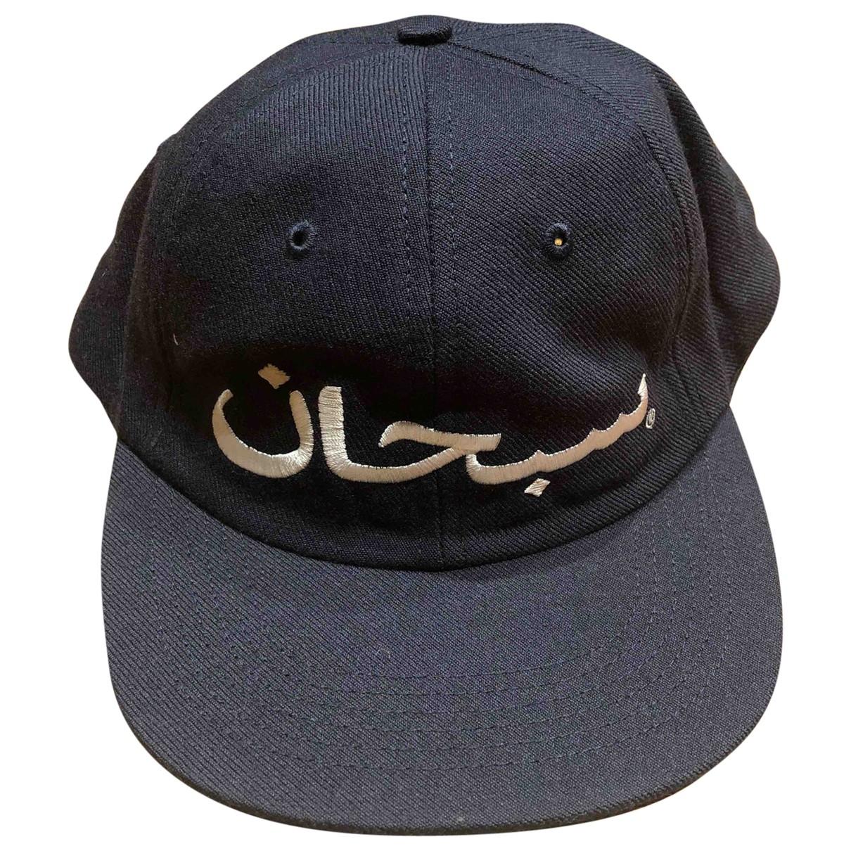 Supreme - Chapeau & Bonnets   pour homme en toile - noir