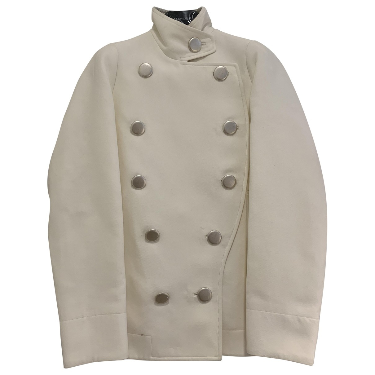 Balenciaga \N White Cotton jacket for Women 34 FR