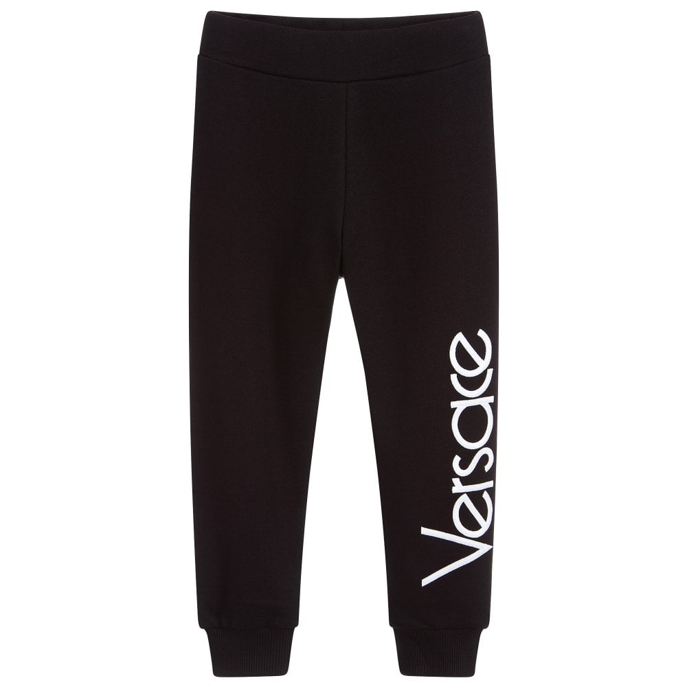 Versace Young Versace Down Logo Joggers Colour: BLACK, Size: 12 YEARS