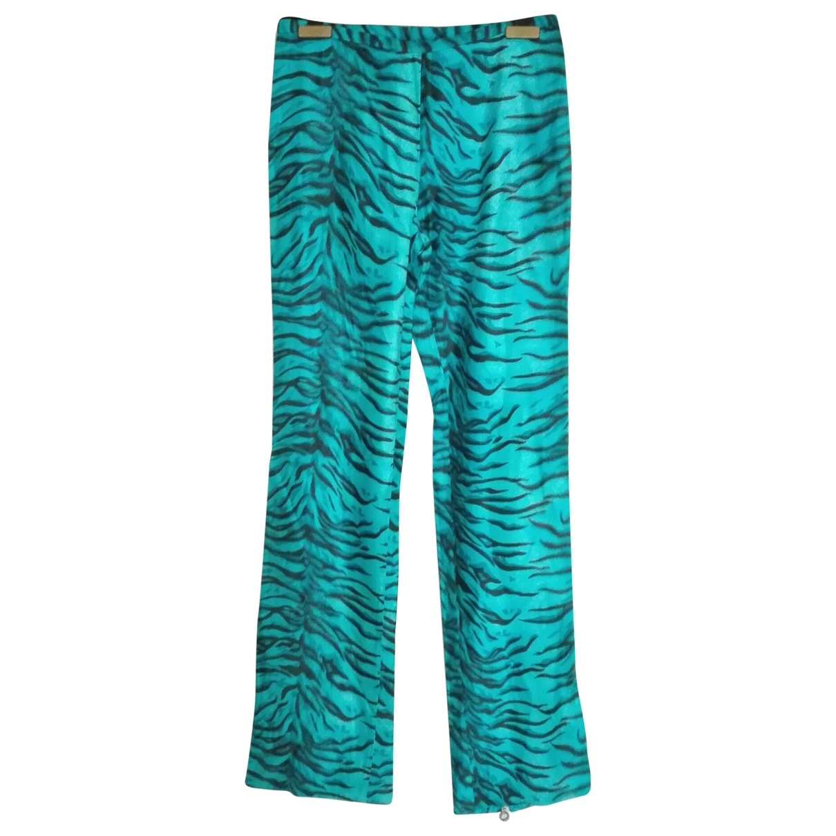 Versace Jeans \N Turquoise Trousers for Women 40 IT