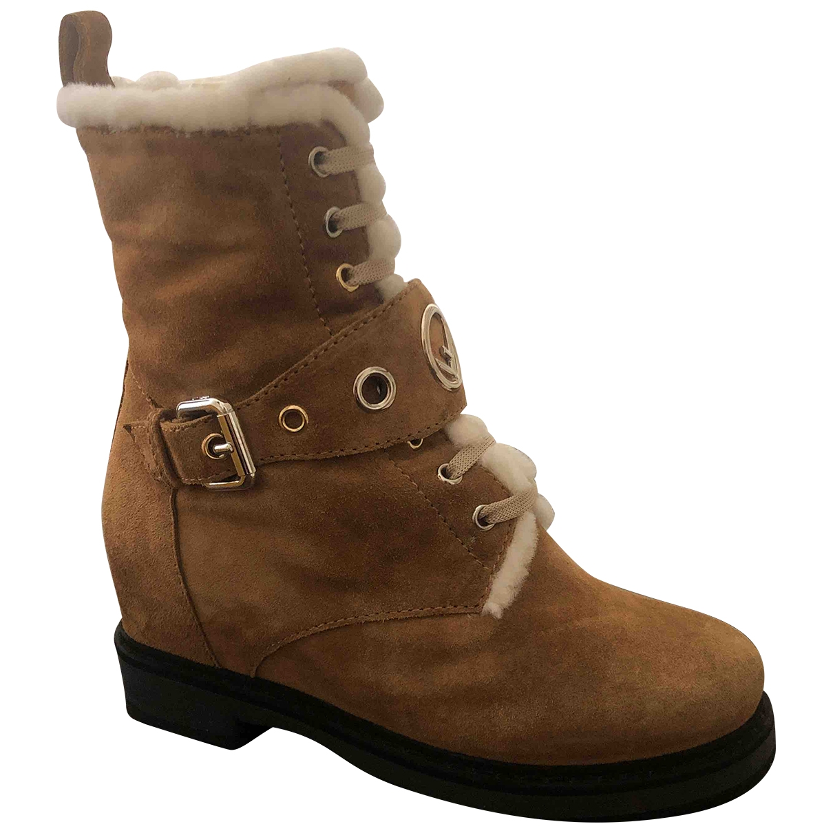 Fendi \N Camel Suede Ankle boots for Women 38 EU