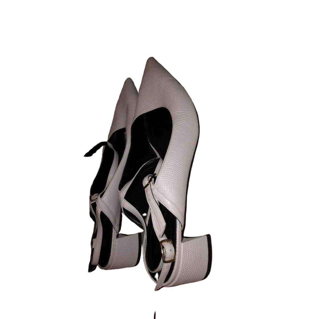Erdem \N White Leather Sandals for Women 41 EU