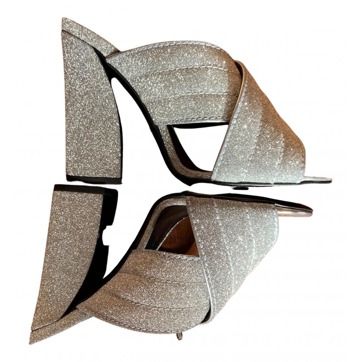 Gucci - Sandales   pour femme en a paillettes - argente