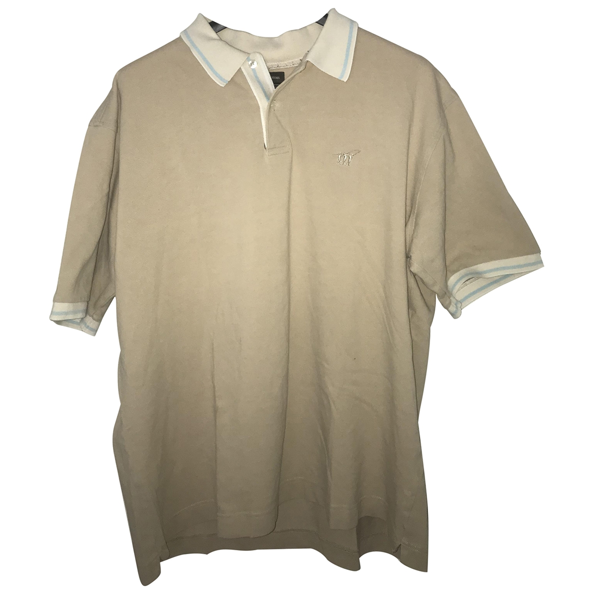 Henry Cotton \N Beige Cotton T-shirts for Men XXL International