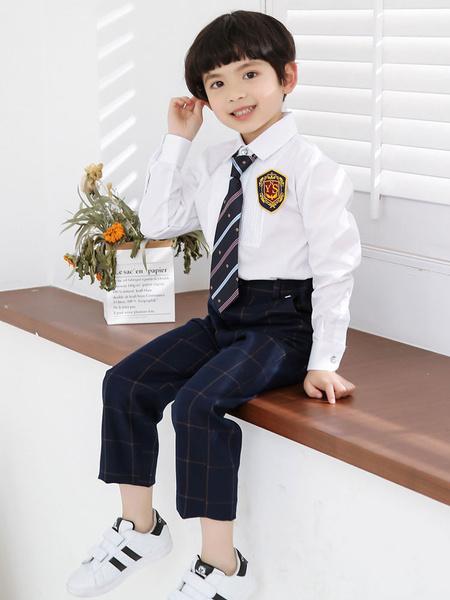 Milanoo Ring Bearer Suits Cotton Long Sleeve Wedding Boy Suits 4pcs