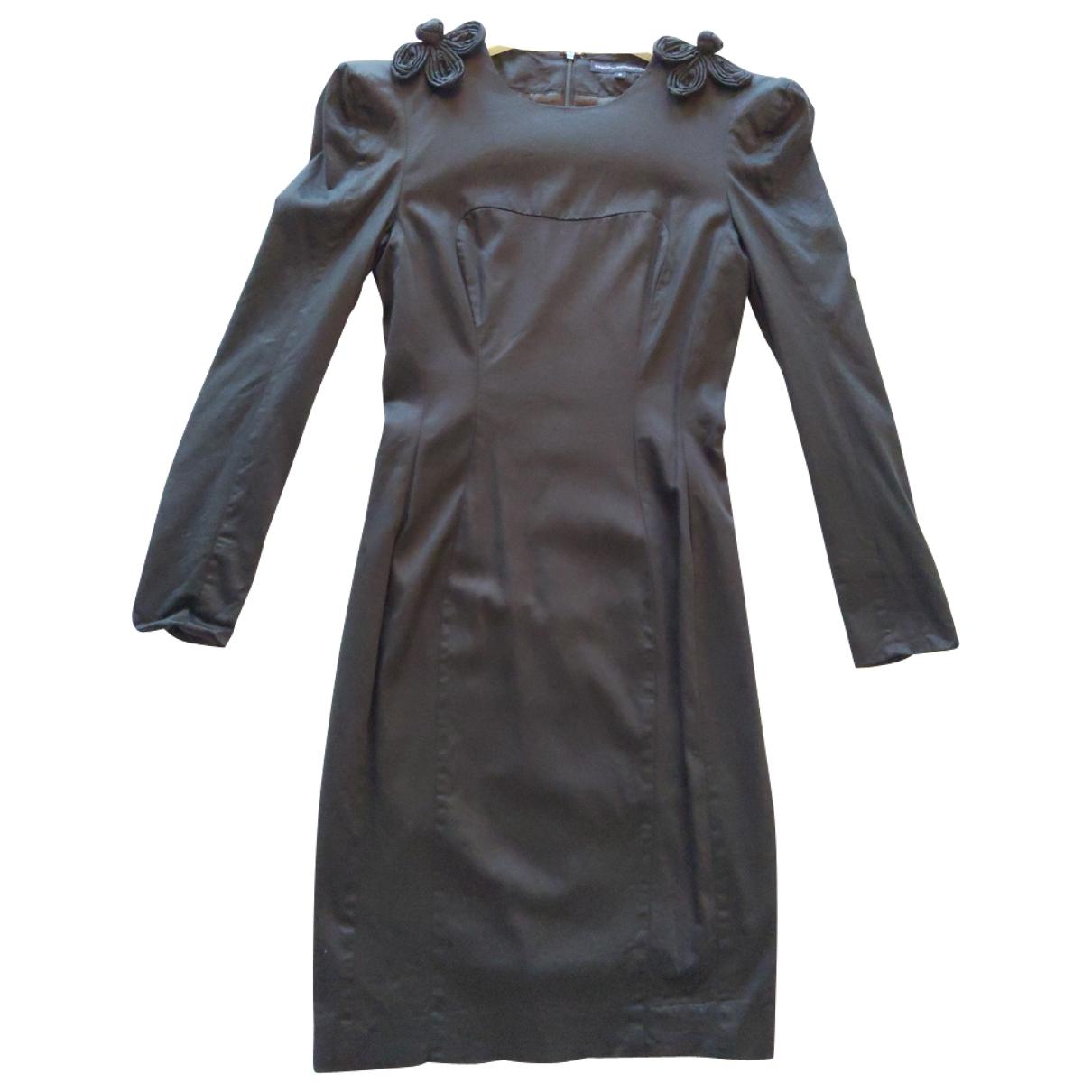 French Connection - Robe   pour femme en coton - elasthane - noir