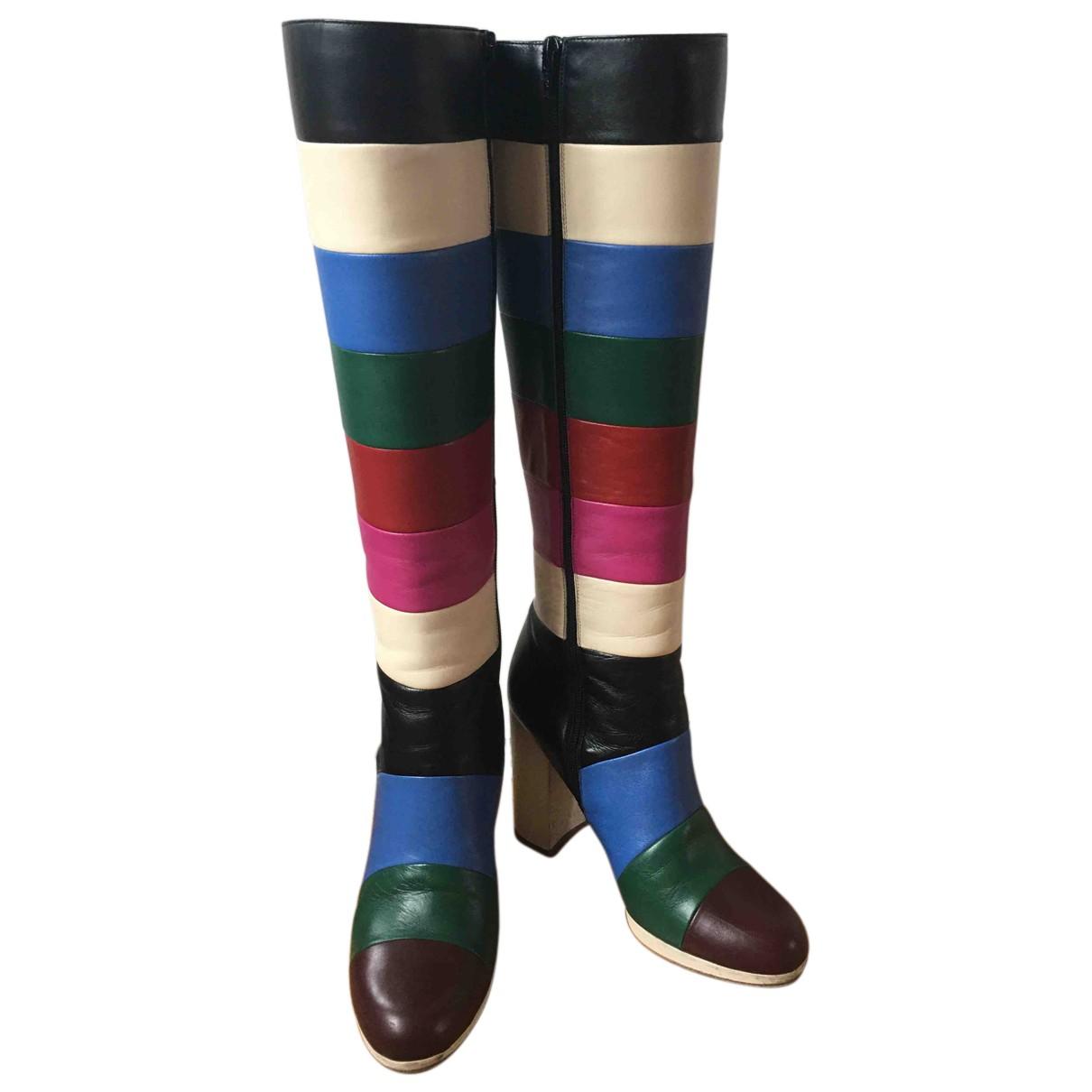 Valentino Garavani - Bottes   pour femme en cuir - multicolore