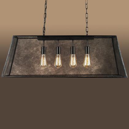 241912 Lemuela 4-light 30-inch Edison Island Chandelier with Bulbs in