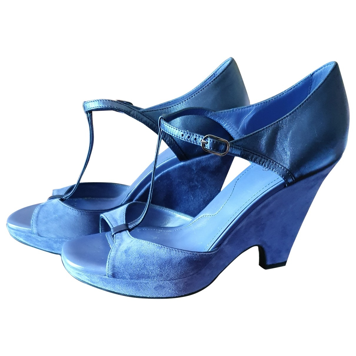 Tod's \N Blue Suede Sandals for Women 40 EU
