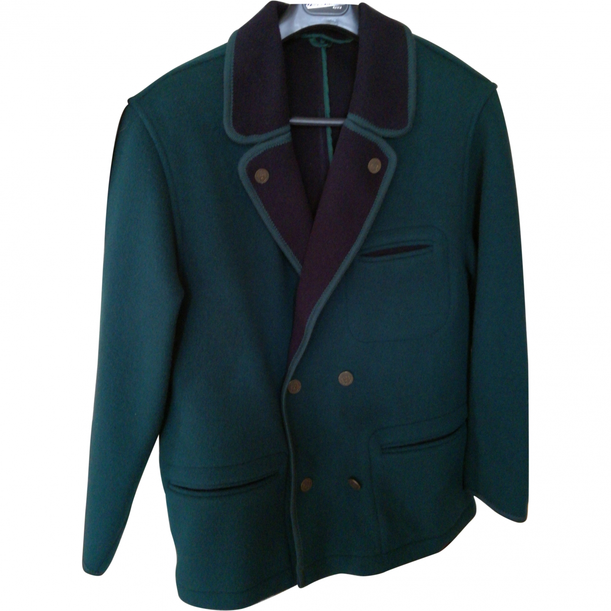 Non Signé / Unsigned \N Green Wool jacket  for Men 48 IT