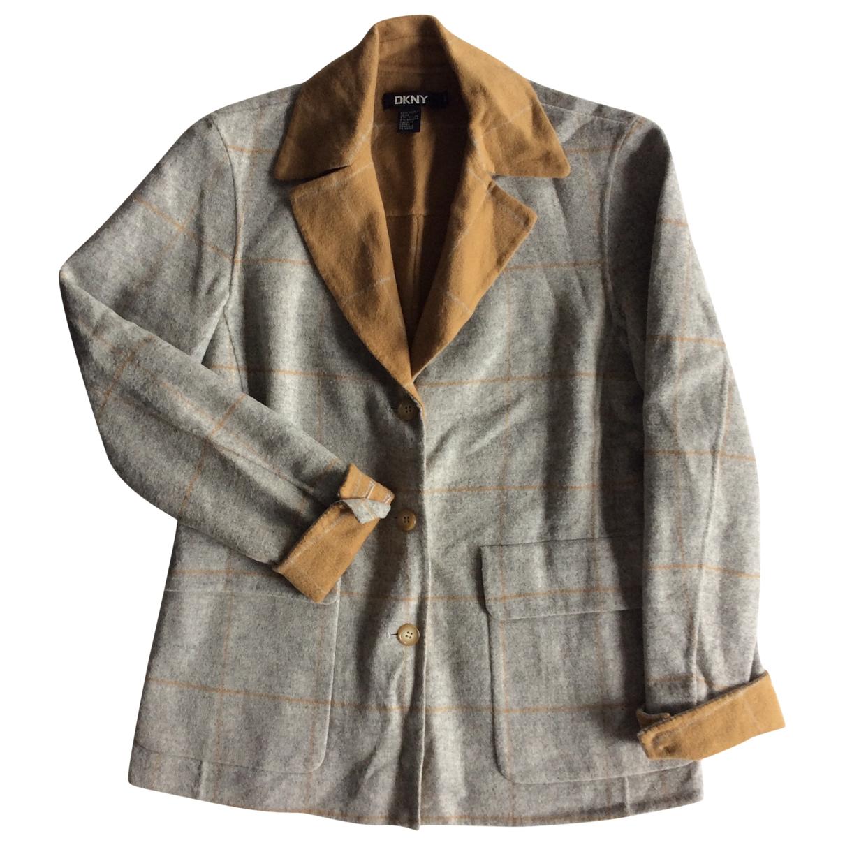 Dkny - Veste   pour femme en laine - gris