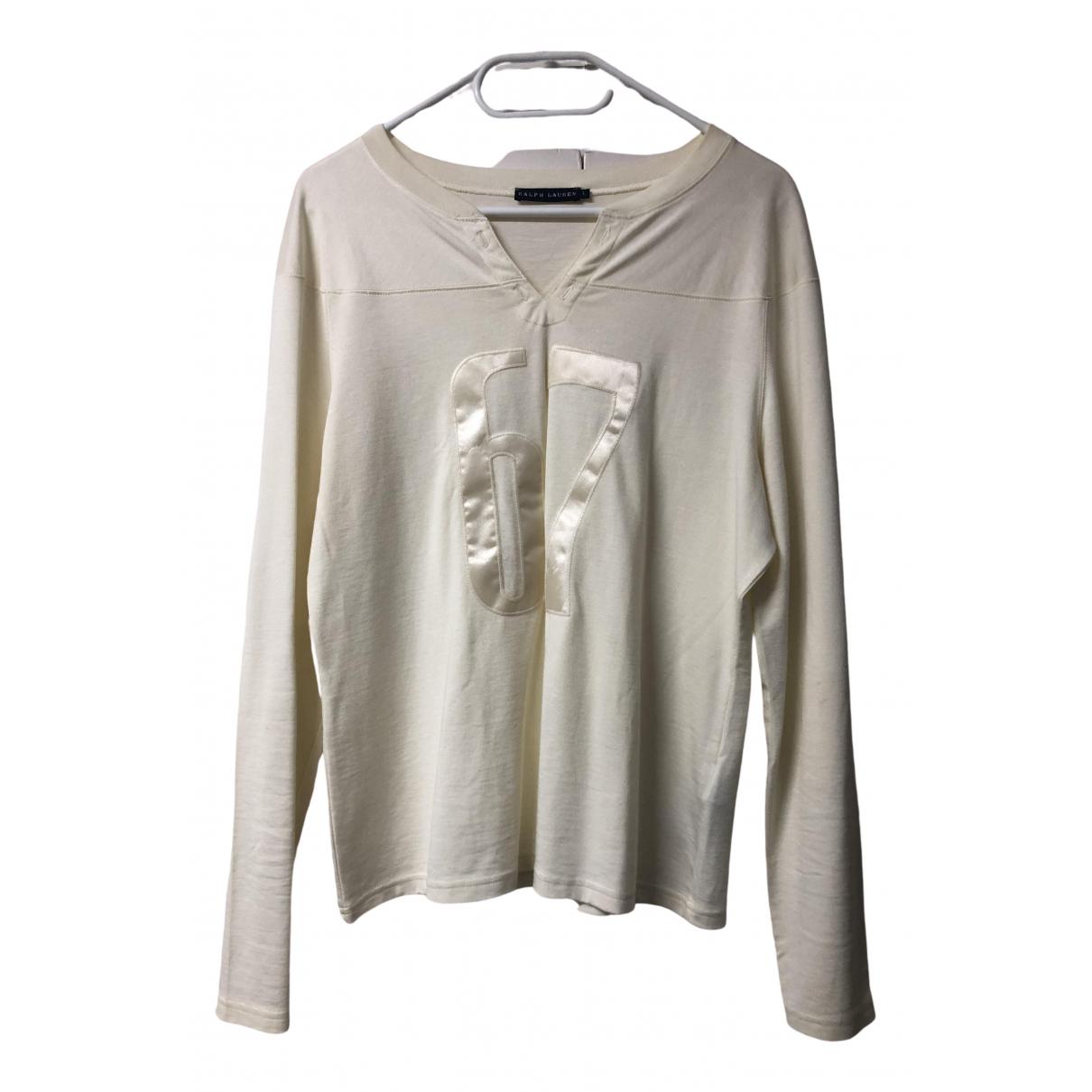Ralph Lauren - Top   pour femme en coton - ecru