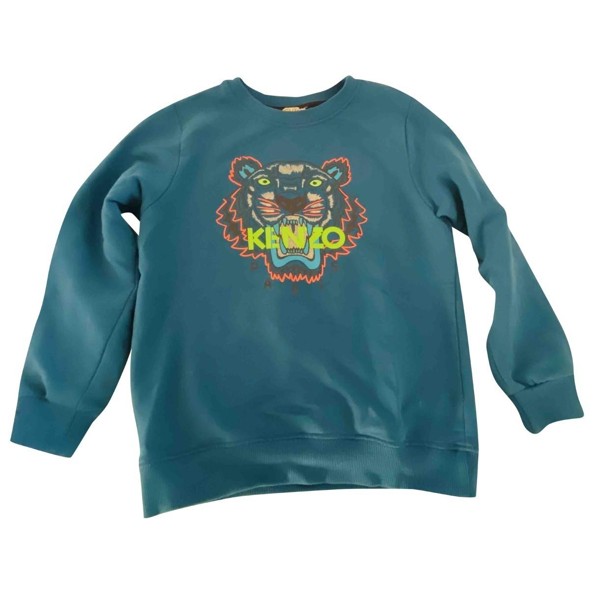 Kenzo - Pull   pour enfant en coton - bleu