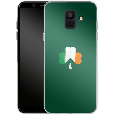 Samsung Galaxy A6 Silikon Handyhuelle - Irish Flag von caseable Designs