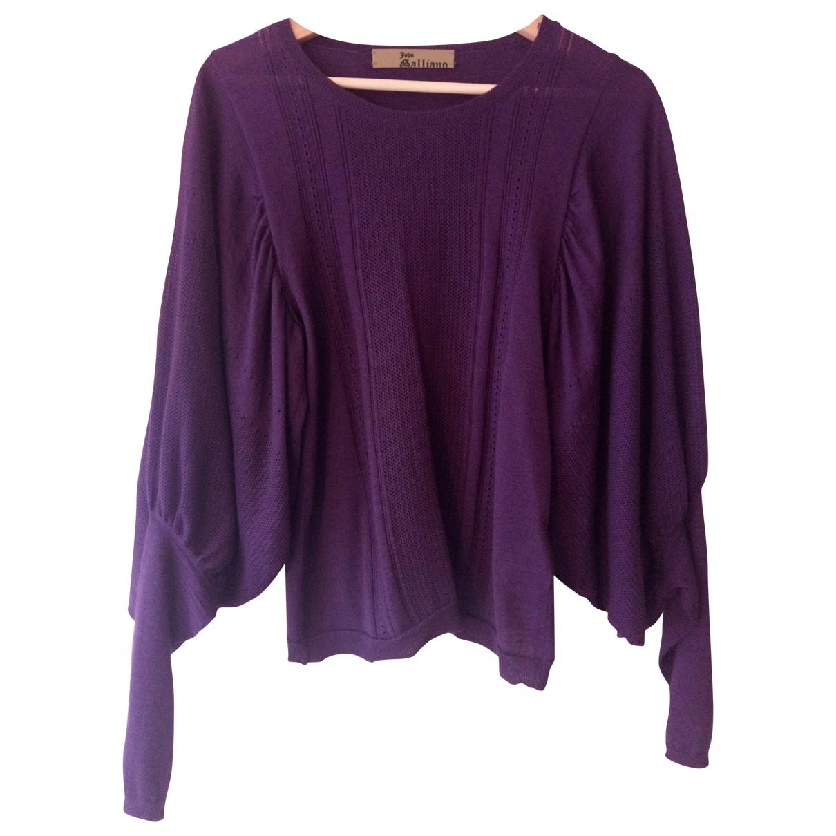 John Galliano - Pull   pour femme en cachemire - violet