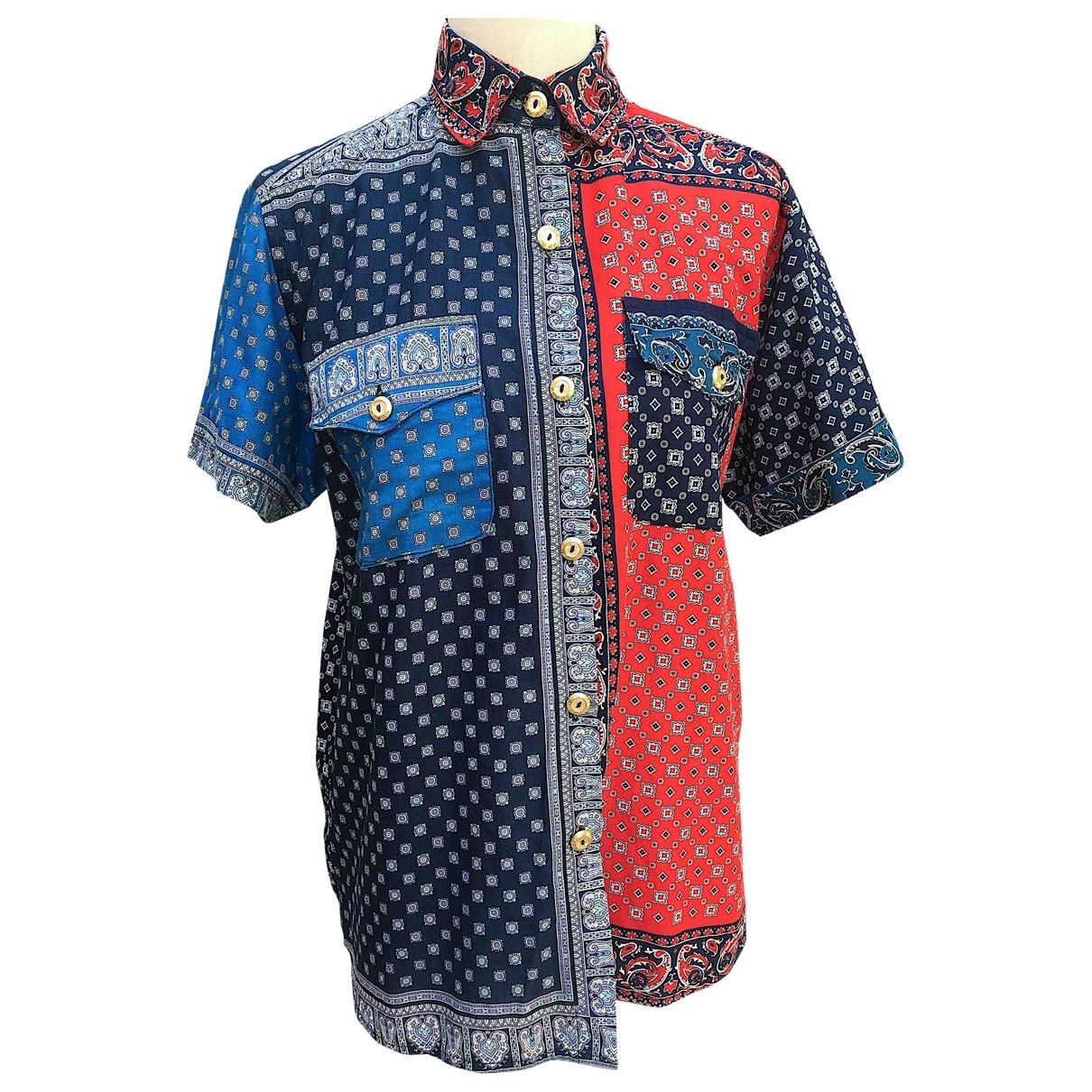 - Top Oversize pour femme en coton - multicolore