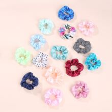 15pcs Polka Dot Scrunchie
