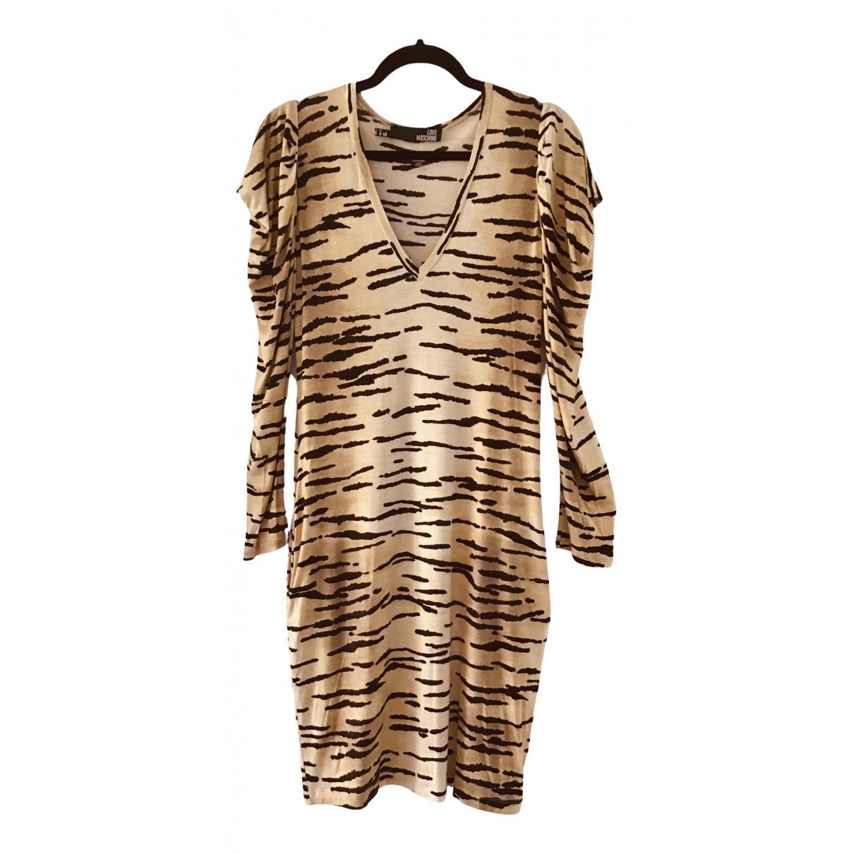 Moschino Love \N Kleid in  Kamel Viskose