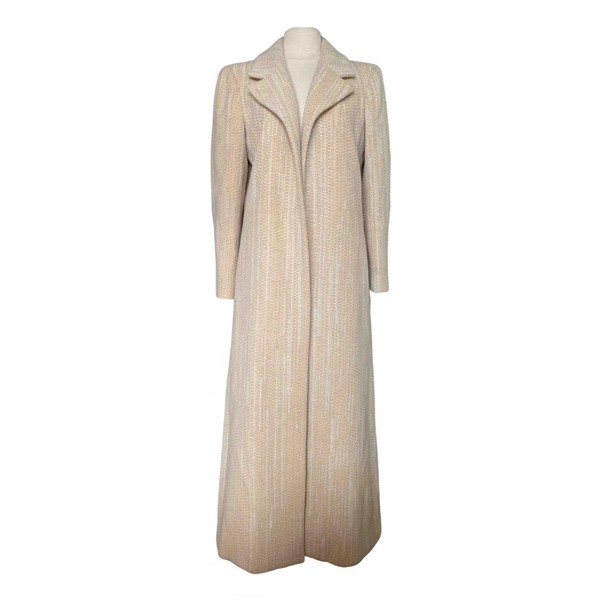 Chanel - Manteau   pour femme en laine - beige