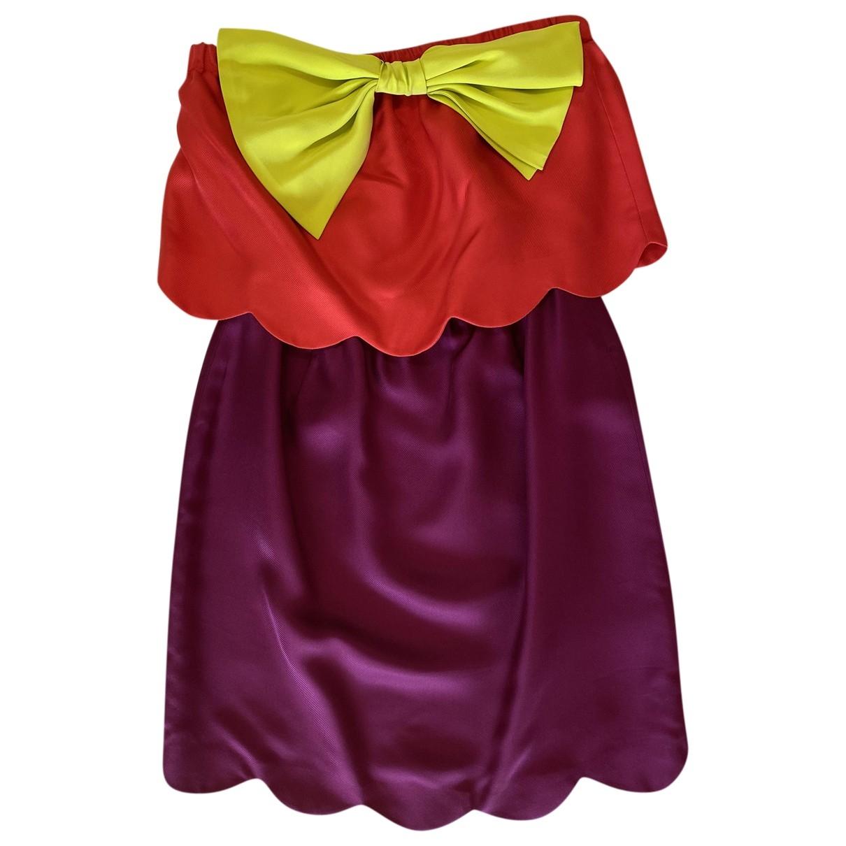 Thread Social - Robe   pour femme en soie - multicolore