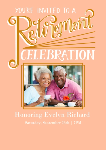 Retirement Cards 5x7 Cards, Premium Cardstock 120lb with Rounded Corners, Card & Stationery -GildedRetirement
