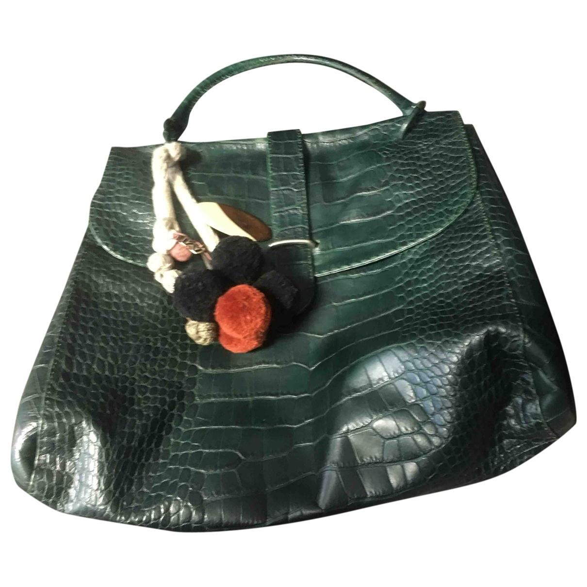 Marni - Sac a main   pour femme en cuir - vert
