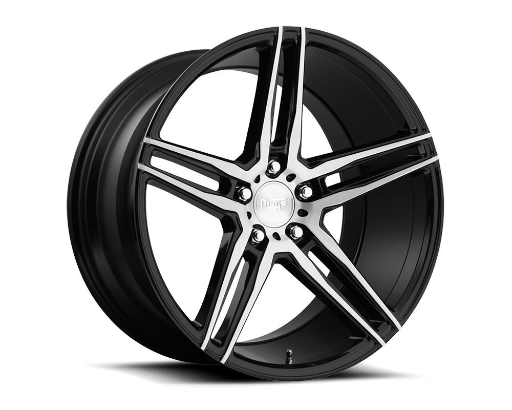 Niche M169 Turin Gloss Black & Brushed 1-Piece Cast Wheel 18x9.5 5x120 40mm